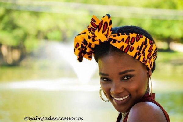 head wrap yellow