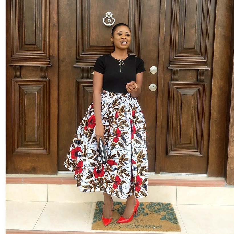 lovely ankara maxi skirt